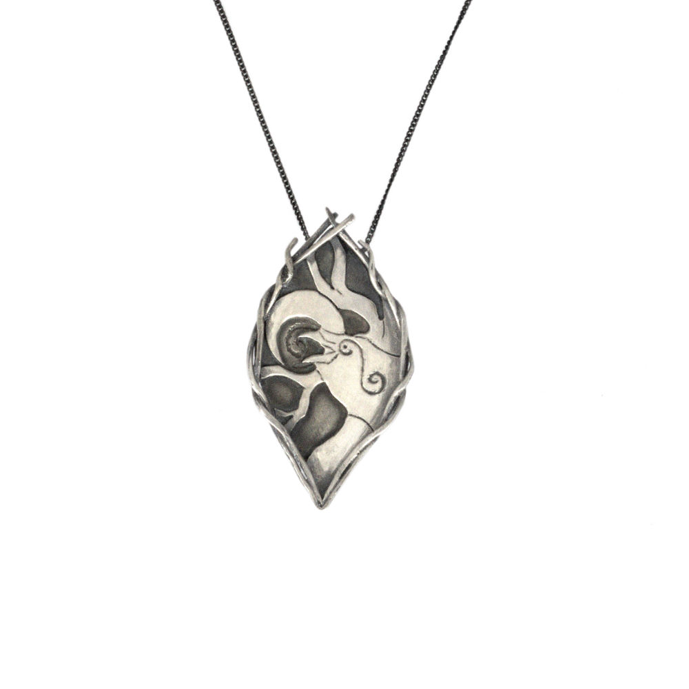 Sterling silver raven pendant lunaria jewellery 1 in stock aloadofball Choice Image